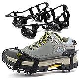 LIZHAIMING Púas de Agarre para Hielo Las púas de tracción Ligeras adecuadas para Caminar sobre la Nieve y los Zapatos Antideslizantes en Hielo se Pueden Sujetar rápida y fácilmente en los Zapatos