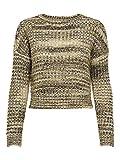 Only ONLDISCO L/S Pullover KNT Suter Pulver, Color Dorado, L para Mujer