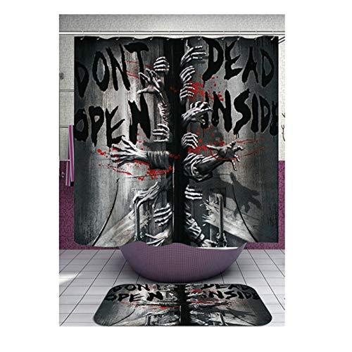 Aeici Bad Vorhang Horror-Blut-Fingerabdruckmuster Badewanne Duschwand Duschvorhang Polyester Badewannenvorhang Anti-Schimmel Mehrfarbig 150X180Cm