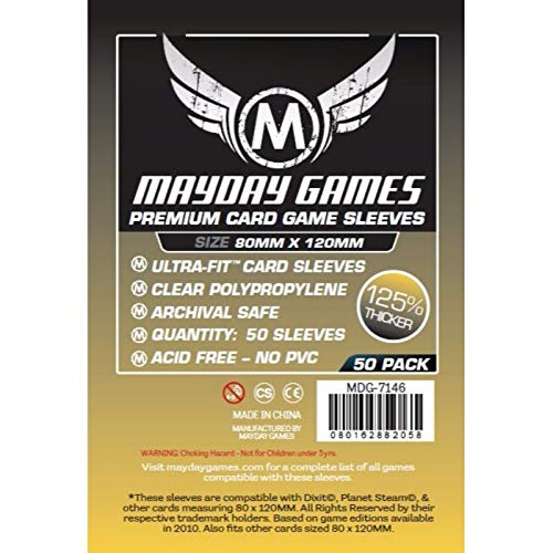 Clear 30 Count 56mmx87mm Ultra Pro 330514 American Board Game Sleeves 56mm x 87mm-
