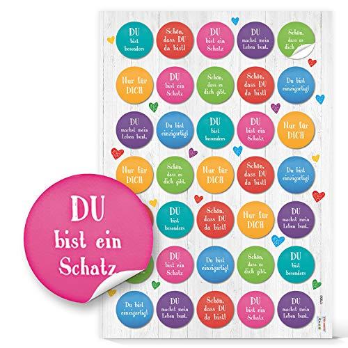 Logbuch-Verlag 35 Aufkleber Sprüchen Motivation Glück Liebe Freunde Freundschaft Briefe Postkarten schreiben Spruchaufkleber Sticker