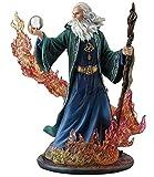 8.25' Elemental Ascendant Wizard Statue Fantasy Decor Magician Sculpture