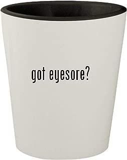 got eyesore? - White Outer & Black Inner Ceramic 1.5oz Shot Glass
