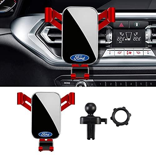1 unids Universal Car Styling Phone Holder para Ford Puma 2020 Kuga F150 Escape Mondeo Ecosport Mustang MK2 3 Soporte de montaje de ventilación de aire (rojo)