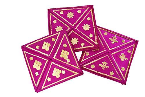 Monedero marroquí de Cuero Plegable (Rosa Fucsia)