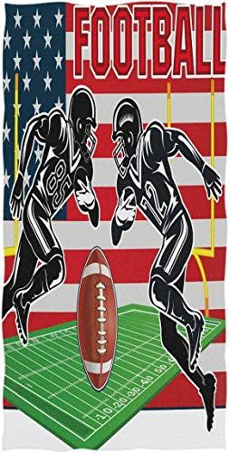 MYGZ-GW Amerikanische Flagge Football-Spieler Handtücher Ultra weiches Handtuch Vintage Sport Ball saugfähigen Handtuch Gast Badetücher 15,7