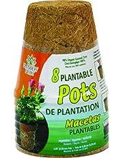 Planters Pride RZR0300 8-Pack 3-Inch Fiber Grow Pot