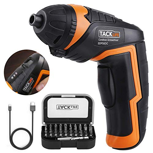 Tacklife SDP50DC Electric Rechargeable Screwdriver Now $18.95 (Was $25.97)
