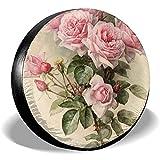 ETGeed Shabby Chic Pink Victorian Reifenabdeckung Polyester Fahrzeugzubehör