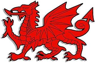 American Vinyl Wales RED DRAGON Shaped Sticker (uk welsh logo)