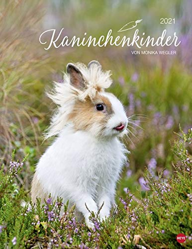 Kaninchenkinder Posterkalender von Monika Wegler - niedlicher Wandkalender 2021 mit vielen Fotos und lustigen Mini-Geschichten - mit Monatskalendarium - Format 34 x 44 cm