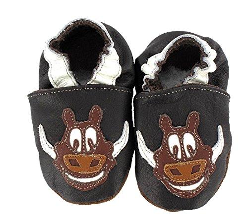 HOBEA-Germany Krabbelschuhe Babyschuhe mit Tieren, Schuhgröße:16/17 (0-6 Monate), Modell Schuhe:Wildschwein Wutzi