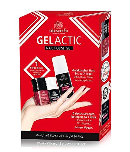 Alessandro gelactic esmalte de uñas Set rojo oscuro, 1er Pack (1x 6ml)