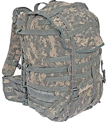 Military Outdoor Clothing Previously Issued US G.I. Large ACU Rucksack Complete with Frame, Shoulder Straps, and Waist Belt