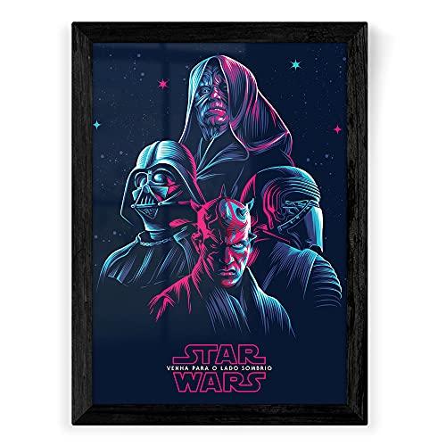 Quadro A2 - Star Wars - Venha Para o Lado Sombrio (A2 - 46 x 64 cm)