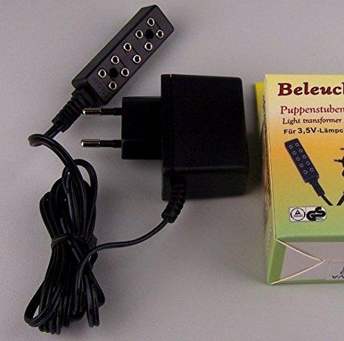 Gleichstrom Beleuchtungstrafo. 3,2V Mit Ruh-Flackerlicht. Für Krippe, Puppenhaus