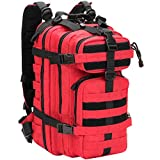 WolfWarriorX Military Tactical Assault Backpack Hiking Bag Extreme Water Resistant Small Rucksack Molle Bag for Traveling, Camping, Trekking & Hiking