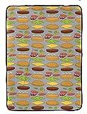 Jay Franco Bob's Burger Day Blanket, Gray