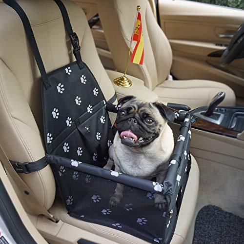 Felicidad Asiento del Coche de Seguridad para Mascotas Perro Gato Plegable Lavable Viaje Transportín