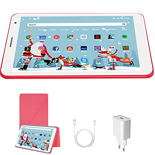 Tablet 8 Pollici Android 10 Pie Tablets 3GB RAM + 32 GB ROM 128GB Espandibili - Certificato Google GMS - WIFI   Bluetooth   Doppia Fotocamera Tablet PC