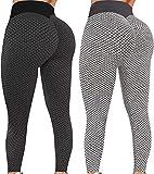 Chunxiao Pantalones de yoga para mujer TIK Tok de ajuste estrecho elástico de cintura alta Leggings largos Y2K Burbuja de levantamiento de glúteos pantalones de entrenamiento