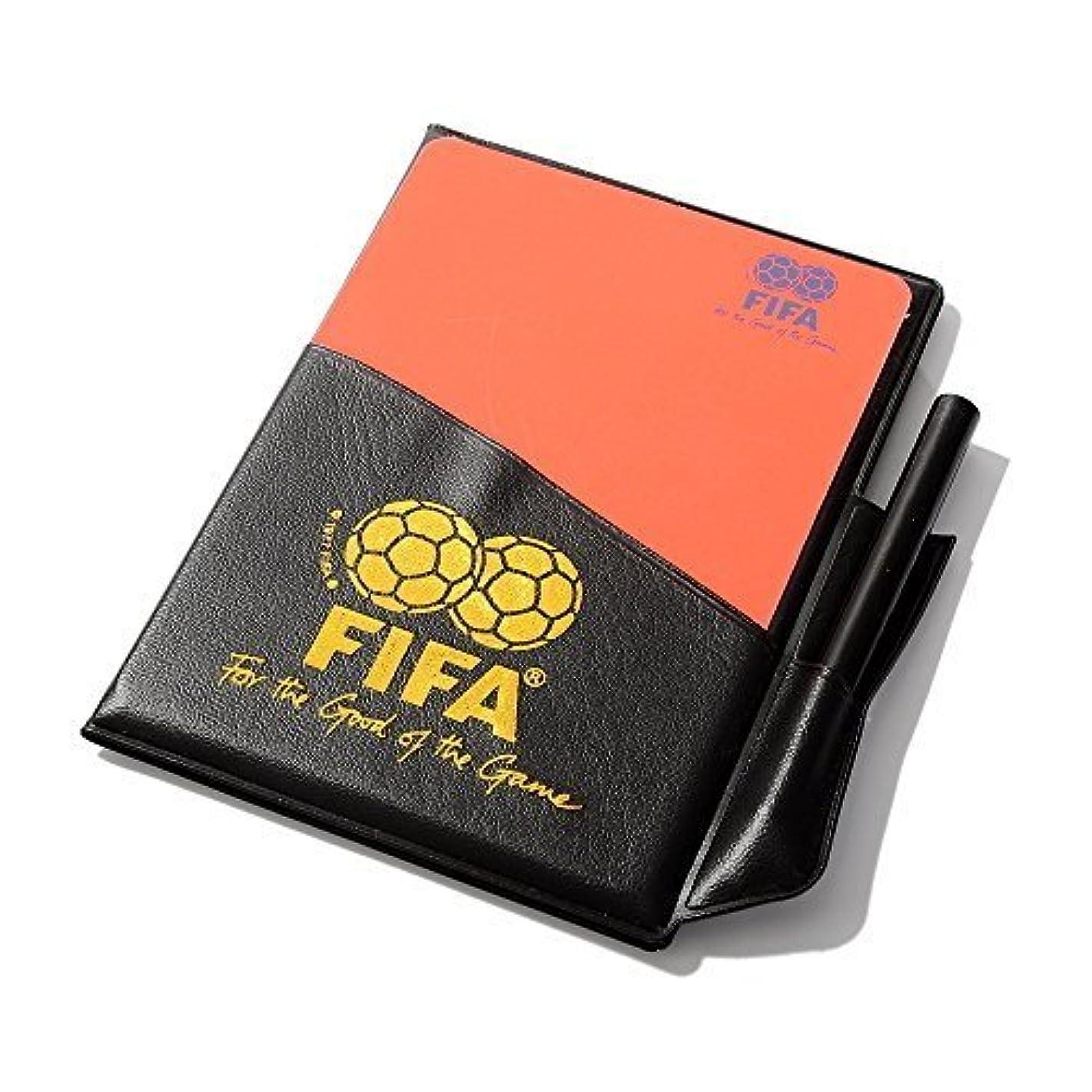ペンスキャンダラスもう一度timeowサッカーレフェリーレッドカードフットボールイエローカードwith財布鉛筆記録用紙for FIFA Judge蛍光カード