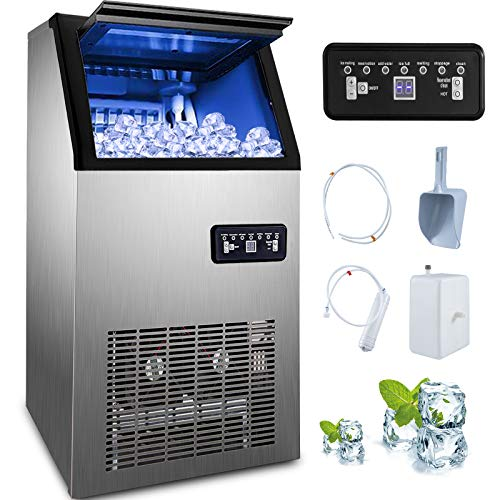 Happybuy 110V Commercial Ice Maker 120lbs/24h