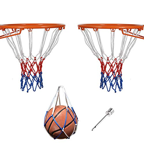 Leyal 2 PCS Heavy Duty Polyester Basketball Net Fits Standard Indoor...