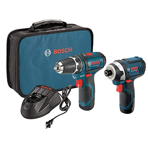 Bosch CLPK22-120-RT 12V Lithium-Ion 3/8 in. Drill Driver and Impact Driver Combo Kit (Renewed)