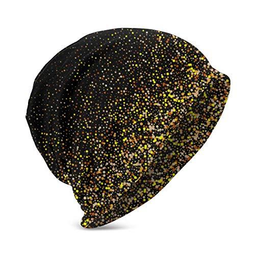 Plantilla de Fondo de luz de Estrellas con Purpurina Dorada, Sombreros de...