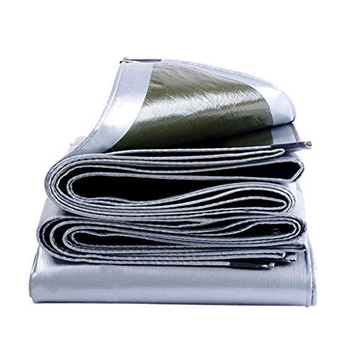 SSHA Lona Tarpa Resistente a Prueba de Agua Tarpa de Servicio Pesado - Polietileno Tejido de Alta Densidad y Doble Laminado - UV Protegido, 180 g/m², Plata Lona Impermeable (Size : 5MX7M)