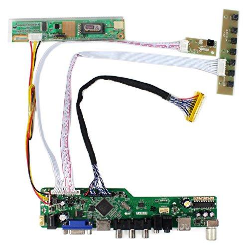HDMI + VGA + AV + tarjeta del regulador del LCD de la entrada de USB + RF para CLAA154WP05 B170PW03 15.4