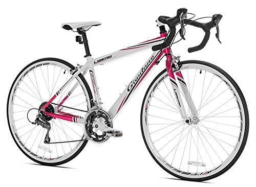Giordano Women's Libero 1.6 Road Bike, Medium, White/Pink