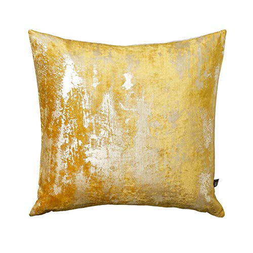 Scatter Box Moonstruck Feather Filled Cushion, Ochre, 58 x 58 Cm