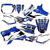 Motocross Pegatinas Gráficos Fondos Calcomanías para Yamaha YZ80 yZ 80 1993 1994 1995 1996 1997 1998 1999 2000 2001 80 YZ Motocicleta Calcomanía (Color : As Shown)
