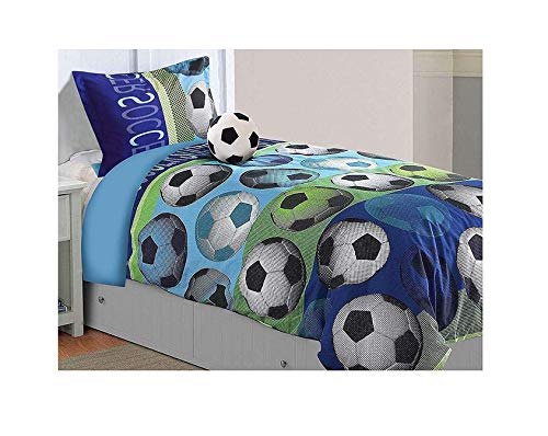 All American Collection 3 Piece Twin Size Soccer Comforter Set...