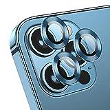 Deyooxi Protector Cámara para iPhone 12 Pro Max,(3 Pack) Vidrio Cristal Templado Cámara Lente Protector Pantalla para iPhone 12 Max,De en azul pacifico