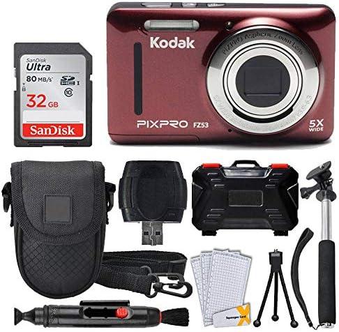 Kodak PIXPRO FZ53 16 15MP Digital Camera Red 32GB Memory Card Point and Shoot Camera Case Extendable product image