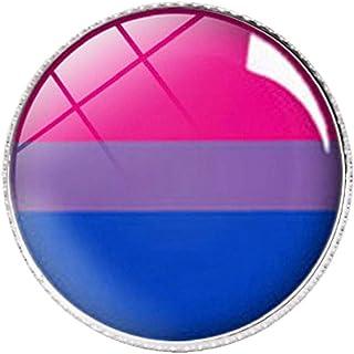 Spilla Pace Pulsante Arcobaleno Badge Pin LGBT Gay Pride Diversity per Abbigliamento Decoration
