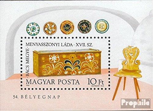 Prophila Collection Ungarn Block151A (kompl.Ausg.) 1981 Brauttruhen (Briefmarken für Sammler) Kultur