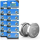 LiCB Knopfzellenbatterien, SR927SW LR927 AG7 SR929SW 395 399, 1,55 V, 20 Stück
