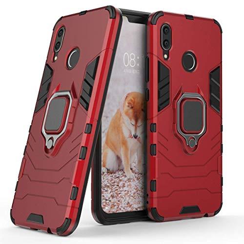 Compatible con Huawei Nova 3 Funda, Anillo Metálico Sujeción Soporte Antichoque Rígido Caja (Funciona…