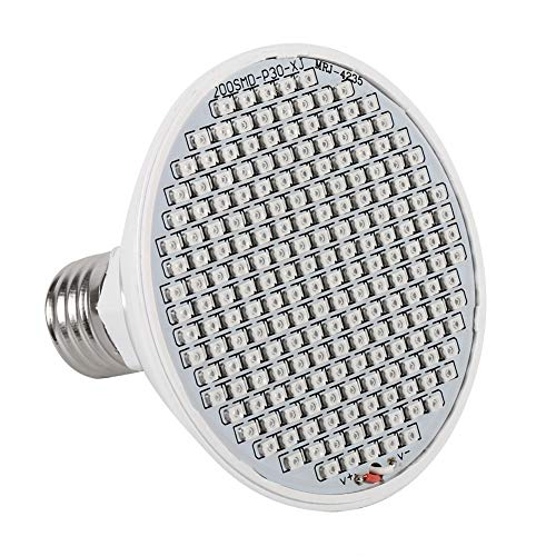 Atyhao Odlingslampa, E27 200-LED växtlampor 24 W växttillväxt hydroponisk belysning för inomhusväxter växthus och trädgård