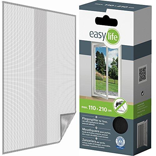Bescherming tegen insecten hor voor deuren met klittenband 110x210cm wit of antraciet 110x210 cm antraciet