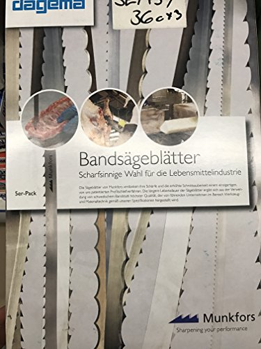 Supra - Hojas de sierra de cinta (5 unidades, para carne, carne y hueso, para uso en congelación, inoxidables), 1820x16x0.5mm