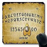 Mousepad Mousemat Ouija Feuer-Brett-Geist-Herz-Tastatur-Spiritismus-Form-rutschfeste Spiel-Mausunterlage 25X30CM
