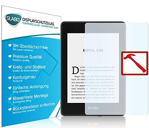 Slabo 2 x Premium Panzerglasfolie für Kindle Paperwhite 2018 (10. Generation) Panzerfolie Schutzfolie Echtglas Displayschutzfolie Folie Tempered Glass KLAR - 9H Hartglas