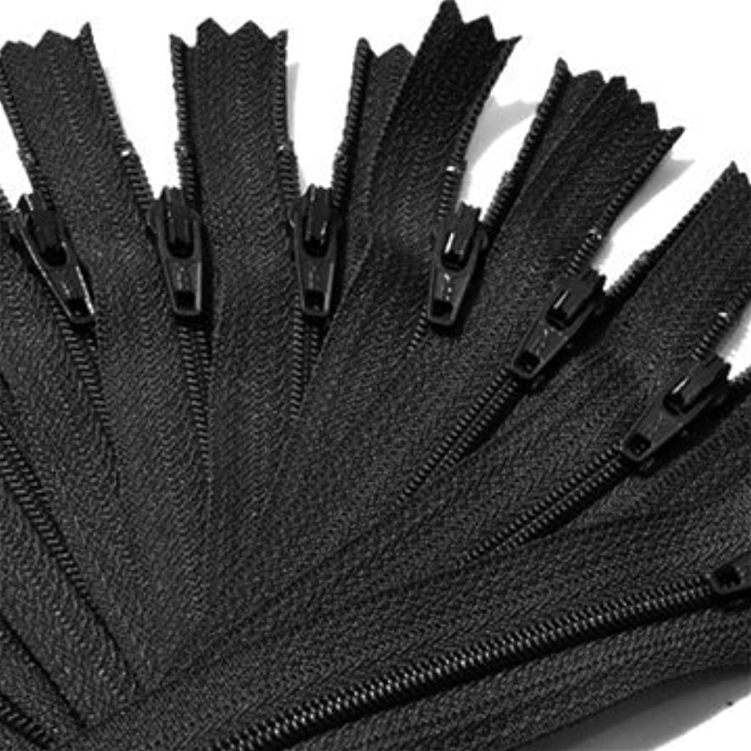 Zipper, YKK #3 Skirt & Dress Nylon Coil Closed End - Select Length or Color (12 Zippers for Color) (14 inch, Black)