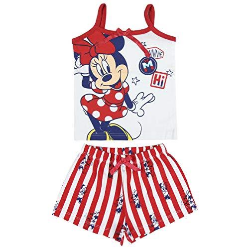 Disney Minnie Mouse Pigiama per Neonati, Pigiami Estivi Morbidi, Traspiranti e Accoglienti, Set Pigiama per Bambini, T-Shirt e Pantaloni, Regalo per Bambina, 12 a 36 Mesi (18 Mesi)