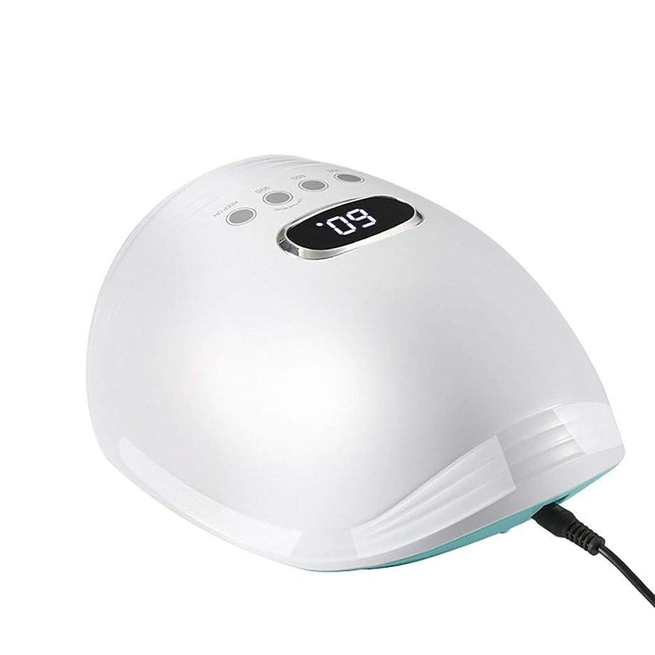 一般的に言えば大砲糞新しいネイルランプled光線療法ランプ60ワット赤青光ネイル機インテリジェント誘導ネイル光線療法ランプ、ピンク (Color : White)